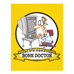 WORLDS GREATEST BONE DOCTOR MEN CARTOON FLYERS