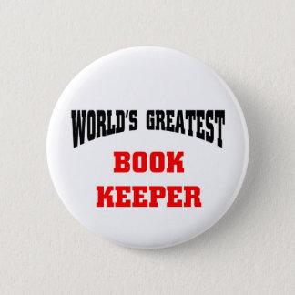 World's greatest book keeper 6 cm round badge