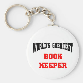 World's greatest book keeper key ring