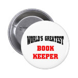 World's greatest book keeper pinback button