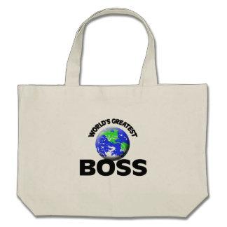 World's Greatest Boss Canvas Bag