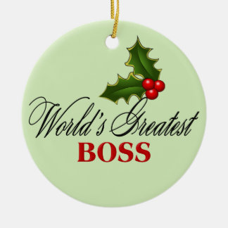 World's Greatest Boss Christmas Ornament