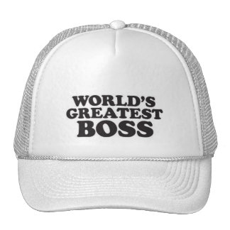 World's Greatest Boss Trucker Hats