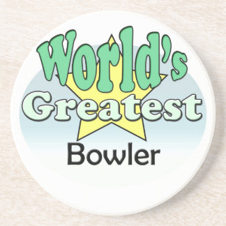 World's Greatest Bowler Beverage Coasters