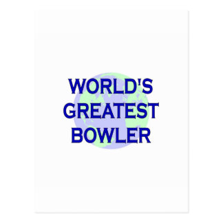World's Greatest Bowler Postcard