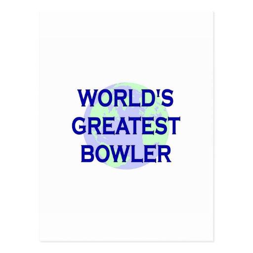 World's Greatest Bowler Postcard