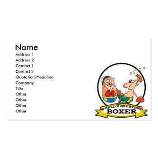 WORLDS GREATEST BOXER MEN CARTOON PACK OF STANDARD BUSINESS CARDS