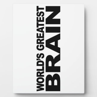 World's Greatest Brain Plaque