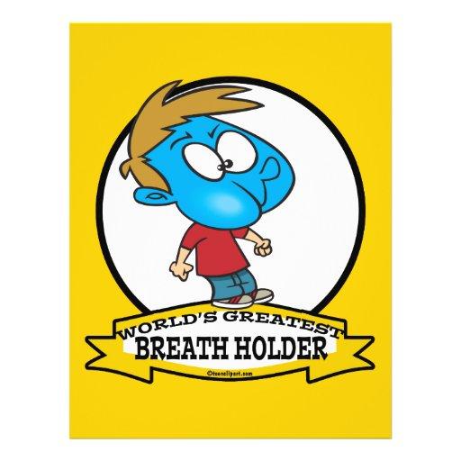 WORLDS GREATEST BREATH HOLDER CARTOON PERSONALIZED FLYER
