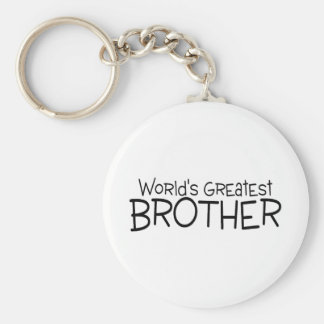 Worlds Greatest Brother Basic Round Button Key Ring