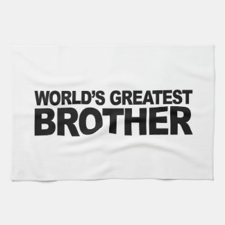 World's Greatest Brother Tea Towel