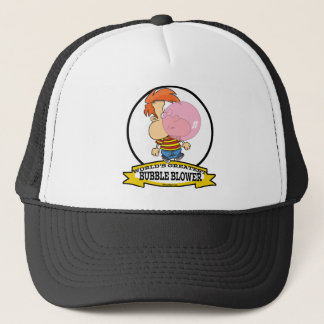 WORLDS GREATEST BUBBLE BLOWER KIDS CARTOON TRUCKER HAT