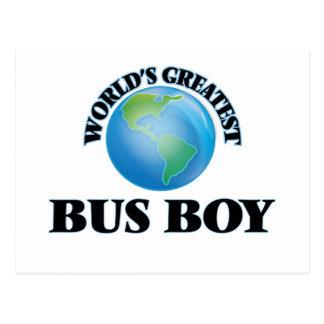 World's Greatest Bus Boy Post Card