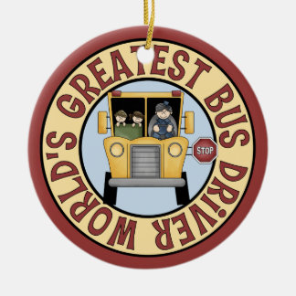 Worlds Greatest Bus Driver Christmas Ornament