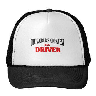 World's Greatest Bus Driver Trucker Hats