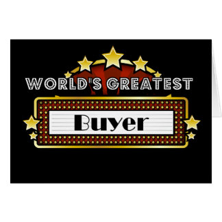 World's Greatest Buyer Greeting Card