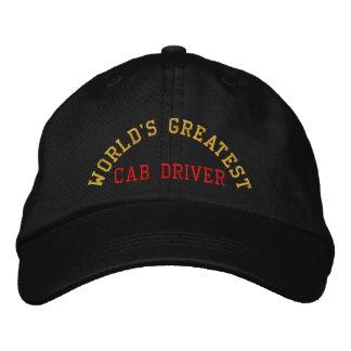 World's greatest, cab driver baseball cap