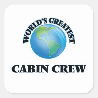 World's Greatest Cabin Crew Square Sticker