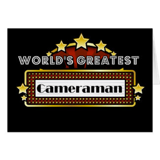 World's Greatest Cameraman Greeting Card