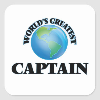 World's Greatest Captain Square Stickers