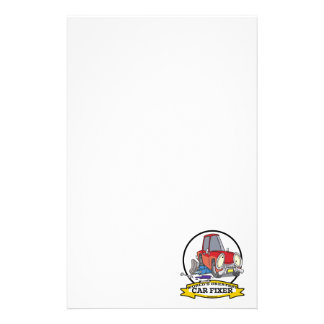 WORLDS GREATEST CAR FIXER CARTOON PERSONALISED STATIONERY