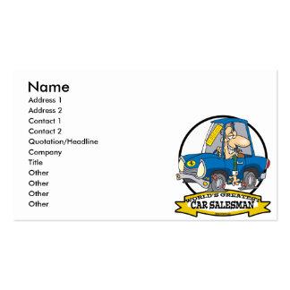 WORLDS GREATEST CAR SALESMAN MEN CARTOON BUSINESS CARD TEMPLATES