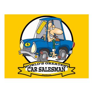 WORLDS GREATEST CAR SALESMAN MEN CARTOON POST CARDS