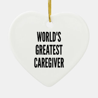Worlds Greatest Caregiver Christmas Ornament