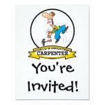 WORLDS GREATEST CARPENTER II MEN CARTOON 11 CM X 14 CM INVITATION CARD