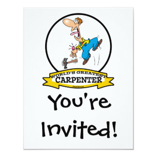 WORLDS GREATEST CARPENTER II MEN CARTOON CARD