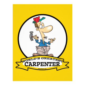 WORLDS GREATEST CARPENTER MEN CARTOON FULL COLOR FLYER