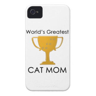 World's Greatest Cat Mom iPhone 4 Cases