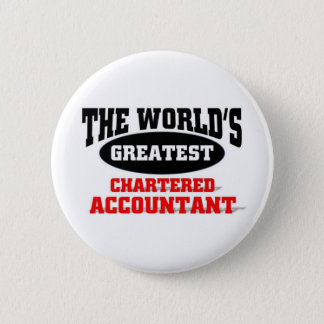 World's Greatest Chartered Accountant 6 Cm Round Badge