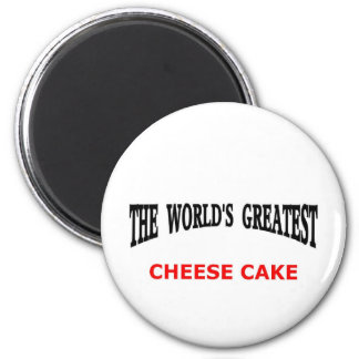 World's greatest cheesecake 6 cm round magnet