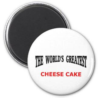 World's greatest cheesecake 6 cm round magnet