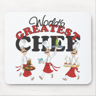 Worlds Greatest Chef Gift Mousepads