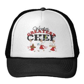 Worlds Greatest Chef Gift Trucker Hats