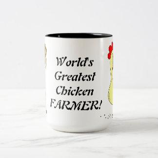 World's Greatest Chicken Farmer Two-Tone Mug