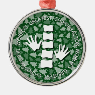 World's Greatest Chiropractor {Green} Ornament
