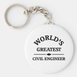 World's greatest Civil Engineer Basic Round Button Key Ring