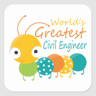 World's Greatest Civil Engineer Stickers