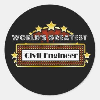 World's Greatest Civil Engineer Round Stickers