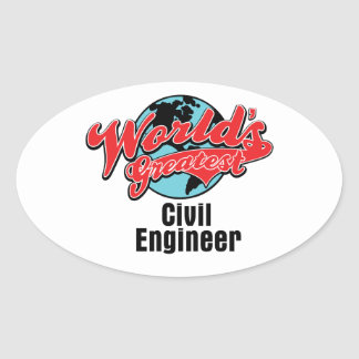 Worlds Greatest Civil Engineer Stickers