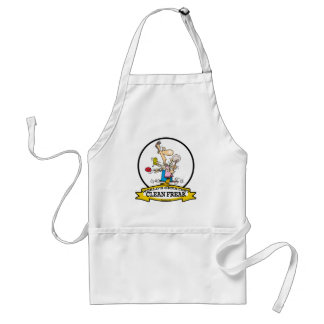 WORLDS GREATEST CLEAN FREAK MEN CARTOON STANDARD APRON