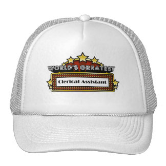 World's Greatest Clerical Assistant Mesh Hats