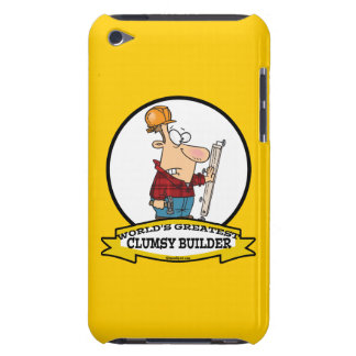 WORLDS GREATEST CLUMSY BUILDER MEN CARTOON iPod TOUCH COVERS