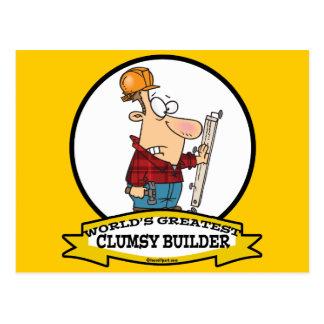 WORLDS GREATEST CLUMSY BUILDER MEN CARTOON POSTCARDS