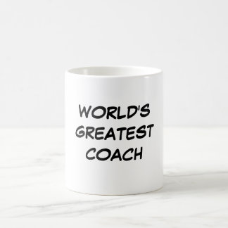 """World's Greatest Coach"" Mug"
