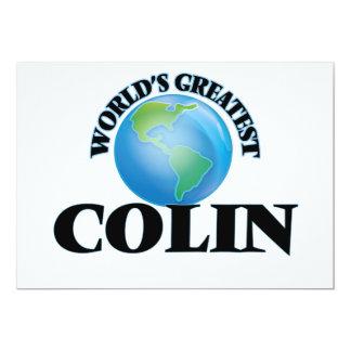 World's Greatest Colin 13 Cm X 18 Cm Invitation Card