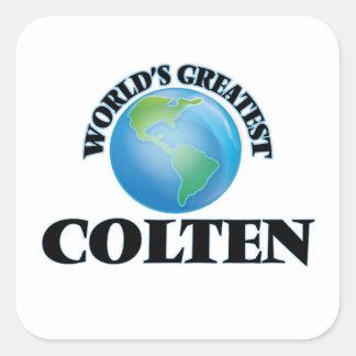 World's Greatest Colten Square Sticker